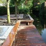 Houtwerkzaamheden - Vlonder, schoeiing en trampoline in Kralingen