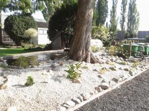 Aanleg tuin met vijver